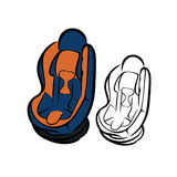 Car seat sketch Stock Image