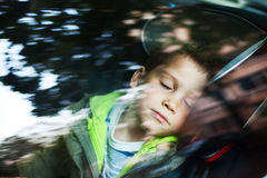 Car seat sleeping Stock Image
