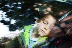 Car seat sleeping Stock Image