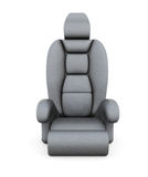 Car seat  on white background. 3d rendering Royalty Free Stock Photo