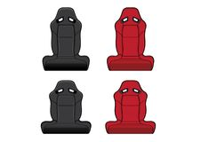 Car Seats Accessories racing Royalty Free Stock Photo