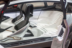 Car Seats of the Future?. Las Vegas, NV, USA - January 7, 2017: Unusual, futuristic contoured car seats on display at CES 2017 Stock Photography