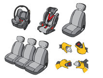 Car seats Stock Image