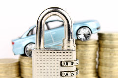 Car Security. A general metaphor for car security, insurance and finance Stock Image