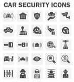 Car security icons Stock Images