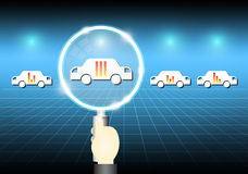 Car select Royalty Free Stock Image