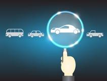 Car selection concept Stock Photos