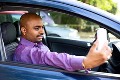 Car selfie Stock Photo