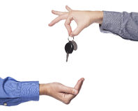 Car selling stock image