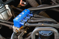 Car sequential gas injection Stock Photos