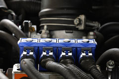 Car sequential gas injection Royalty Free Stock Image