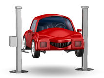 Car service. 3D image Royalty Free Stock Images