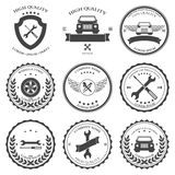 Car service Auto parts and tools Icons Royalty Free Stock Photos