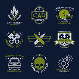 Car service badges and logo Royalty Free Stock Photo