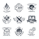 Car service badges and logo Royalty Free Stock Photography