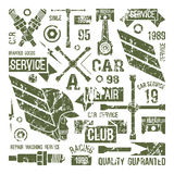 Car service badges in retro style Royalty Free Stock Photo