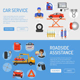 Car Service Banners Royalty Free Stock Photo