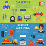 Car Service Banners Stock Photography