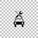Car service icon flat stock illustration