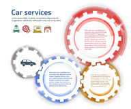 Car service brush effect it gears white background Royalty Free Stock Photography