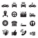 Car service, Car care icons set Stock Images