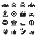 Car service Car care icons set Stock Image