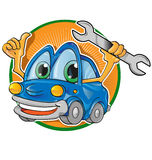 Car service cartoon. On white  background Stock Images