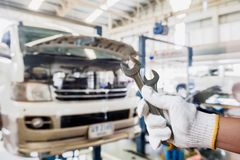 Car service centre. Car in car service centre Royalty Free Stock Photography