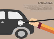 Car service concept Royalty Free Stock Images