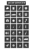 Car service concept icons Royalty Free Stock Image