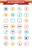 Car service concept icons,Colorful version Stock Image