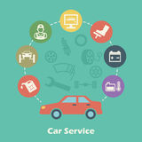 Car service concept Stock Images