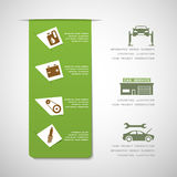 Car service design elements Royalty Free Stock Image