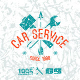 Car service emblem Royalty Free Stock Image