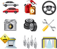 Car service and filling station icons Royalty Free Stock Images