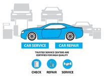 Car service,Flat designed banners for ui-ux design andweb design Royalty Free Stock Photos