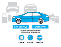 Car service,Flat designed banners for ui-ux design andweb design Stock Images