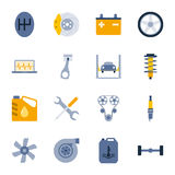 Car service flat icons set Stock Photography