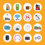 Car service flat icons Stock Image
