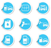 Car service and gas station icons Royalty Free Stock Images