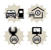 Car service icon Stock Image