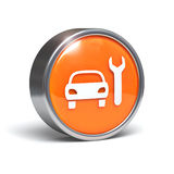 Car service icon - 3D button
