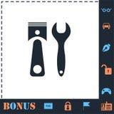 Car service icon flat royalty free illustration