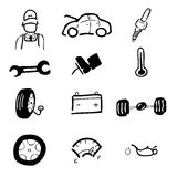 Car service icon set1 Royalty Free Stock Images