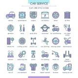 Car Service Icon Set Stock Photos