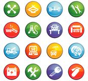 Car service icon set Royalty Free Stock Images
