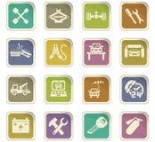 Car service icon set Royalty Free Stock Photos