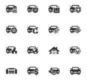 Car service icon set. Car service maintenance icons set and symbols for web user interface Royalty Free Stock Photos