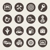 Car service icon set. Vector illustration Stock Image