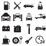 Car service icon set. Vector Illustration. Stock Photography